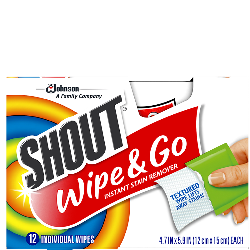 Shout Wipe And Go - 12 Wipes