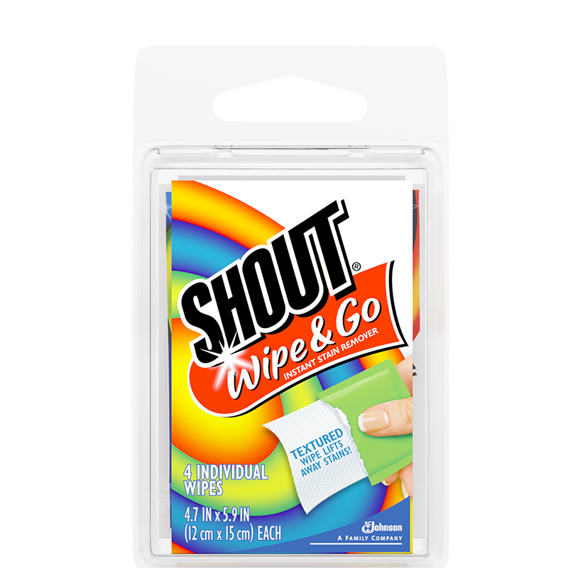 Shout Wipe And Go - 4 Single Wipes